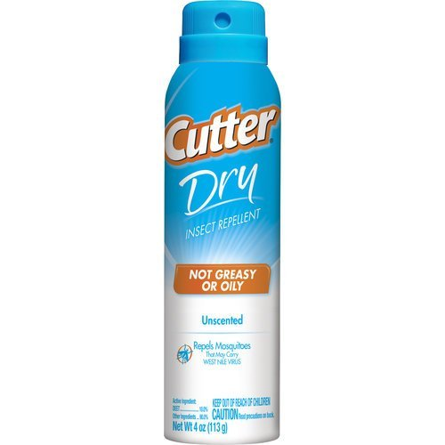 Cutter Dry Insect Repellent, 4-Ounce ( Pack of 3 )