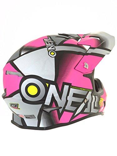Amazon.com: ONeal 3 Series Womens Radium Helmet (Gray/Pink/Hi-Viz, Large): Automotive