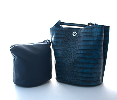 Il Di Grigio Spalla Donna Per Sacchetto Blu Unbekannt Plastica CwUp64xxq