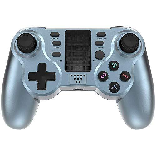 Controller für PS4, PowerLead Wireless Gaming Controller, Geschenke für Mann und Frau, Sechsachsiges Dual Vibration Gamepad für Playstation 4 / Playstation 3 mit farbenfrohen LEDs und Touchpad