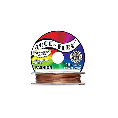Accu-Flex Beading Wire Nylon Stainless Steel Copper 49 strands 0.019