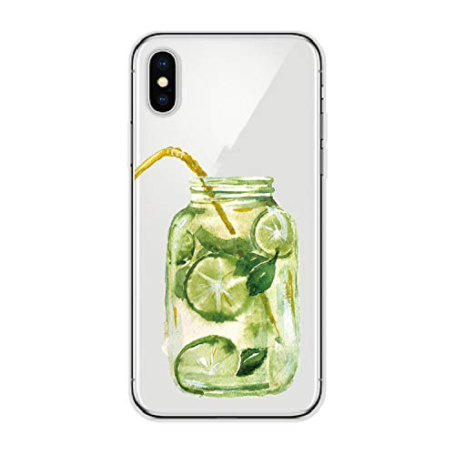 Summer Fresh Cocktail Strawberries Orange Lime Jar Soft Phone Case for iPhone 6S 7P 5 8 8Plus X Xs Max for Samsung,3,for iPhone 6 6S ()