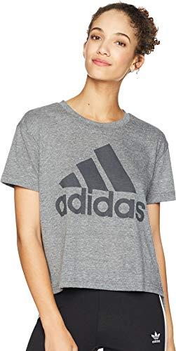 adidas Women's Boxy Badge of Sport T-Shirt Black XX-Large