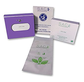 s.a.c. sanitaria Dispensador de eliminación de bolsa y servilletas Starter Set, lavanda: Amazon.es: Amazon.es