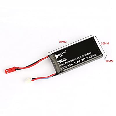 HUBSAN H901A 7.4V LiPo Battery of H501S H502S H107D FPV Controller Transmitter Rechargeable Battery: Home Audio & Theater