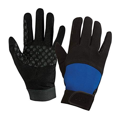 - Dublin Unisex Touch Fastening Cross Country Riding Gloves II (Adults Xsmall) (Black/Blue)