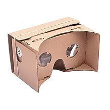 Google Cardboard DIY Virtual Reality 3d Glasses for Iphone, Google Nexus 6 & Samsung Mobile Phones