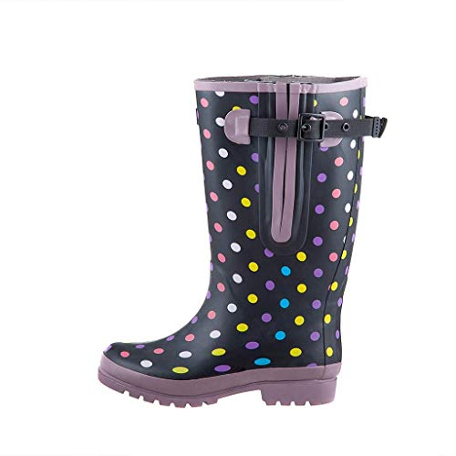 "Jileon Extra Wide Calf Women Rain Boots | The Widest Fitting Womens Rainboots in The US | Specially Designed for Ladies with Wide Feet, Ankles & Calves | Fits up to 23"" Calves"