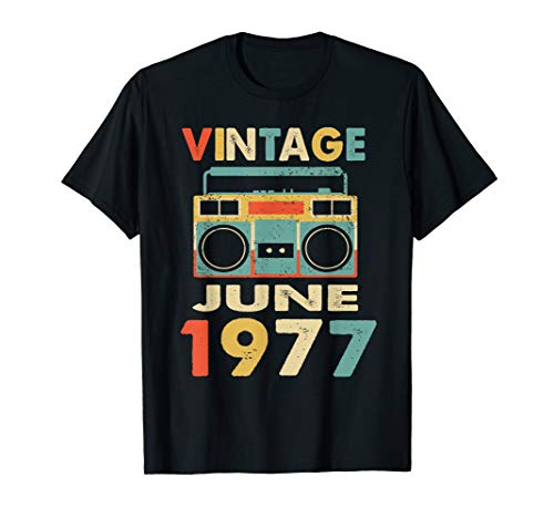 - Vintage June 1977 Tshirt Retro 42nd Birthday Gifts