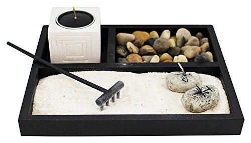 Deluxe Zen Garden Tabletop Kit (Rocks, Candles, Sand & More) (Zen Rock)