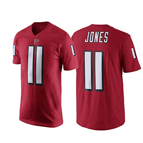 Nfl Jones Thomas Football (Outerstuff Julio Jones Atlanta Falcons #11 NFL Youth Performance Player Jersey T-Shirt Red (Youth 8-20) (Red, Youth X-Large 18/20))