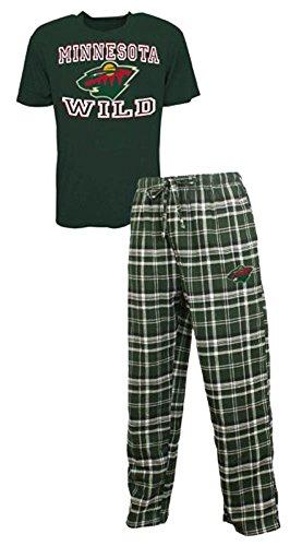 Concepts Sport Minnesota Wild NHL Men's Shirt and Pajama Pants Flannel PJ Sleep Set XL 40-42