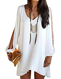 Women Dress,Haoricu Womens Long Sleeve Vintage Party Beach Dress Casual Vestidos