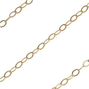 Gold filled delicate flat cable chain for Craft chain by the foot