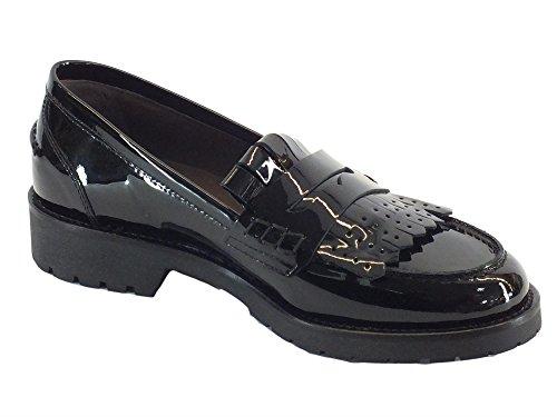 Mocasines De Para Nero Negro Piel Giardini Vernice Mujer A719290d qwnfxSA7fF