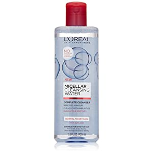 L'Oreal Paris Micellar Cleansing Water Normal to Dry Skin Cleanser & Makeup Remover, 13.5 fl. Oz.