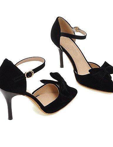 LFNLYX Zapatos de mujer-Tacón Stiletto-Tacones / D'Orsay y Dos Piezas / Puntiagudos-Sandalias / Tacones-Exterior / Fiesta y Noche-Microfibra- Black