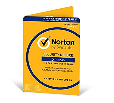 Norton Security Deluxe | 5 Devices | 1 Year | PC/Mac/iOS/Android | Download