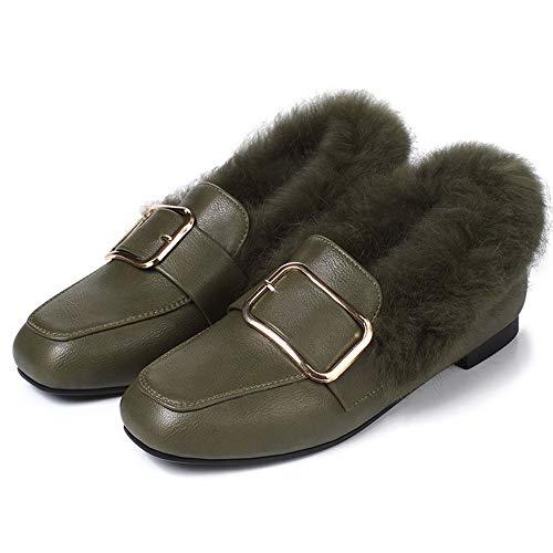 À Matière Mélangee Vert Chaussures Légeres Tsfdh005693 Talon Aalardom Unie Femme Couleur Bas t5qPwxnEBT