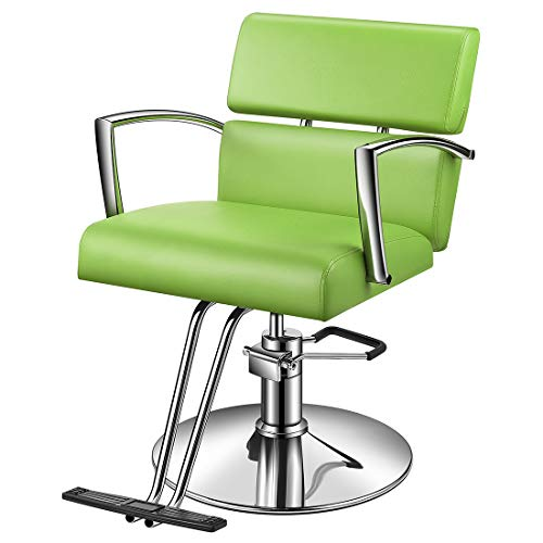 Baasha Green Beauty Chair Salon With Hydraulic Pump, All Purpose Styling Chair For Hair Stylist, Hydraulic Beauty Chair Green, Styling Salon Chair For Hair Cutting, Hair Chair Hydraulic Green