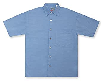Bamboo cay bellagio cobalt hawaiian shirt at amazon men for Bamboo button down shirts