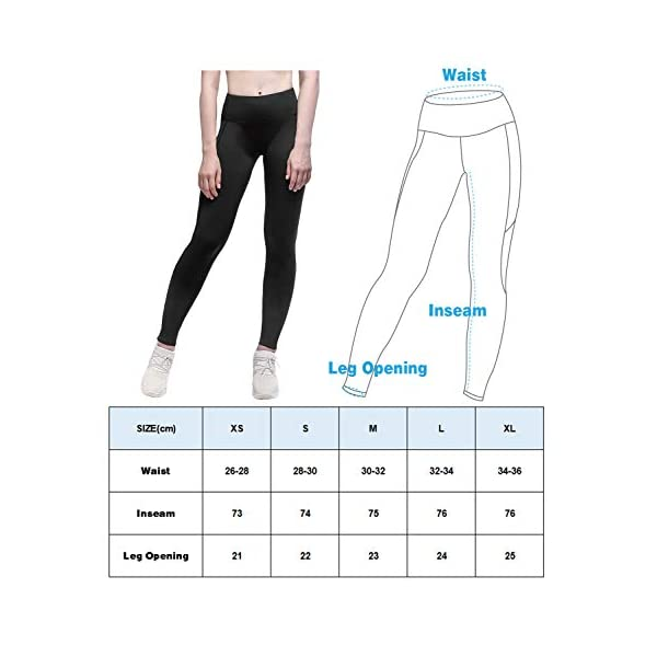Womens 4 Way Stretch Fleece Lined Leggings Thermal Tights For Workout Running Yoga