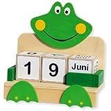 matches21 Ewiger / unendlicher Kalender in Würfelform als Laubsägevorlage Holz Bausatz f. Kinder Werkset Bastelset ab 10 Jahren