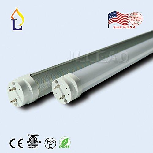 (6 Pack) ETL T8 LED Light Tube 8ft 48W economic Lamp G13 SMD2835 240leds 3000k/4000k/6500K white daylight fluroscent replacement stocking