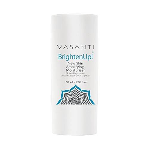 Brighten Up New Skin Amplifying Moisturizer by VASANTI – Enriched with Aloe, Vitamin C, and Arbutin from Bearberry Leaves – Get Healthy Glowing Skin – Full Size 2.03 fl. oz.