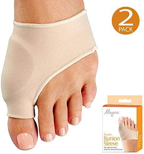 Bunion Corrector Relief Sleeve Bunion Pads with Gel Cushion for Men and Women - Orthopedic Bunion Splint Protector Toe Separators Straighteners Spacers – Hallux Valgus Brace, Big Toe Joint, Hammer Toe