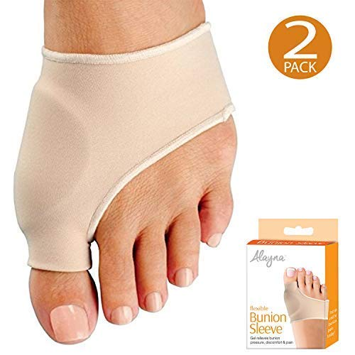 Bunion Corrector Relief Sleeve Bunion Pads with Gel Cushion for Men and Women - Orthopedic Bunion Splint Protector Toe Separators Straighteners Spacers - Hallux Valgus Brace, Big Toe Joint, Hammer Toe