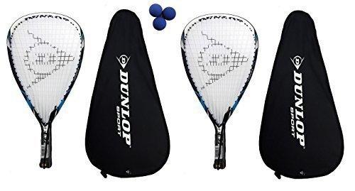 2 x Dunlop raquetas + 3 raquetbol Nanomax Tour pelotas Dunlop £335