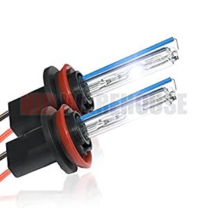 HID-Warehouse HID Xenon Replacement Bulbs - H11 5000K - Bright White (1 Pair) - 2 Year Warranty