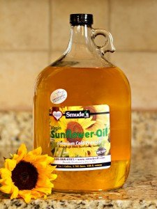 Smude Sunflower Oil 1 Gallon Glass [Cold Pressed, All Natural, NonGMO Cooking Oil] 1 Cold Pressed at 85 degrees Great for Oil Pulling Heart Healthy - High in Vitamin E