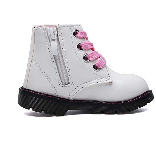 Classic Waterproof Shoes for Girl Toddler Zip White Walking Boots,Toddler 5.5M by Cixi Maxu E-Commerce.Co.Ltd (Image #4)
