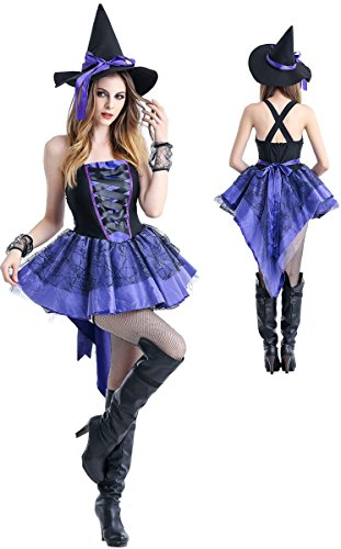 Women's Halloween Outfit Costumes,Magic Witch Pirate Cosplay Party Ladies Fancy Dress - Miss EEDAN - Witch Halloween Costumes Outfit