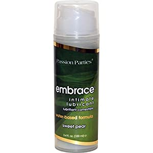 Passion Parties Embrace Intimate Lubricant, 3.4 Fl.Oz (100 mL), Sweet Pear