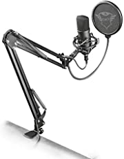 Trust Gaming 22400 GXT252+ Emita Plus Professional USB Studio Condenser Microphone with Adjustable Arm, Black
