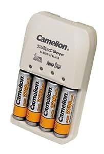 Camelion BC-0905 - Cargador de pilas (incluye 4 pilas AA, 2500 mAh)