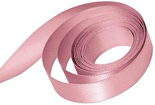 Stock Pink Ribbon - Papillon Ribbon and Bow Single Face Satin Woven Ribbon, Dusty Rose