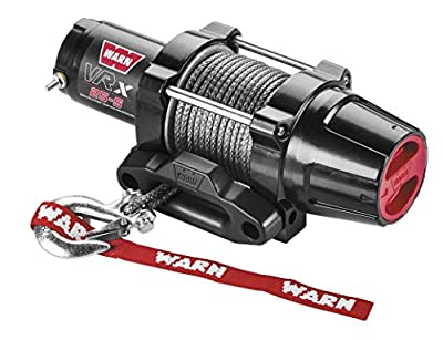 New Warn VRX 2500 lb Winch With Synthetic Rope & Model Specific Mount - 2004-2006 Yamaha 350 Grizzly 2x4 ATV