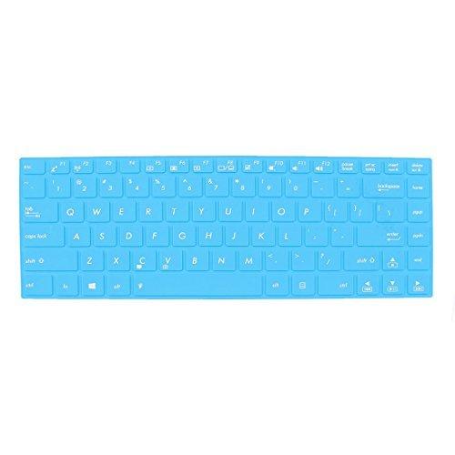 Amazon.com: eDealMax Azul de silicona piel del teclado Film Protector Para cubrir Asus 15 Notebook: Electronics