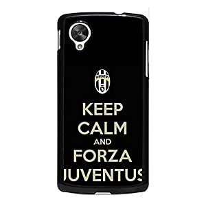 Official Juventus FC Phone Case Keep Calm Design Juventus FC Logo Cover Case Snap On Google Nexus 5 Serie A Design