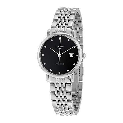 Longines Elegant Collection - L4.310.4.57.6 - Black Diamond Dial Automatic Women
