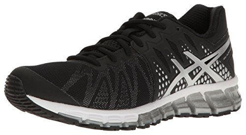 ASICS Women's Gel-Quantum 180 TR Running Shoe, Black/Silver/White, 12 M US
