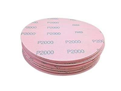 5 Inch 2000 Grit Hook and Loop Wet / Dry Auto Body Film Sanding Discs , 50 Pack