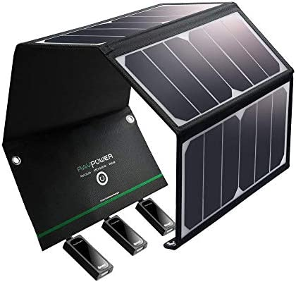 RAVPower Solar Charger 24W Solar Panel with 3 USB Ports Waterproof Foldable Camping Travel Charger Compatible iPhone Xs XS Max XR X 8 7 Plus, iPad, Galaxy S9 S8 Note 8 and More, Black - 10157137 , B06XBGSS2R , 285_B06XBGSS2R , 2454455 , RAVPower-Solar-Charger-24W-Solar-Panel-with-3-USB-Ports-Waterproof-Foldable-Camping-Travel-Charger-Compatible-iPhone-Xs-XS-Max-XR-X-8-7-Plus-iPad-Galaxy-S9-S8-Note-8-and-More-Black-285_B06XBGSS2R , fado.v
