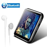 8GB Clip MP3 Player with Bluetooth, BENGJIE Portable Music Player with Headphones, HiFi Metal Audio Player with FM Radio,Voice Recorder,E-Book, 1.8 Inch Touch Screen Mini MP3 Player for Running, Black