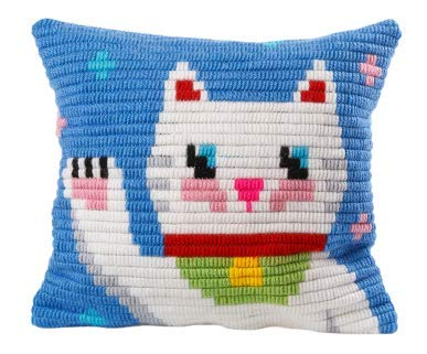 Sozo DIY Unicorn Design Needlepoint Kit for Beginners Cross Stitch Embroidery Kit for Kids Tapestry Pillow An Ideal Gift. Complete Kit. Everything You Need To Create A Needlepoint Pillow (Maneki ()