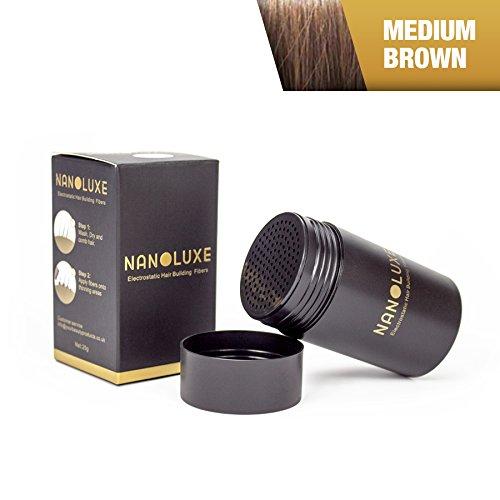 Nanoluxe, correttore in fibre capillari, marrone medio, 25 g Naloluxe